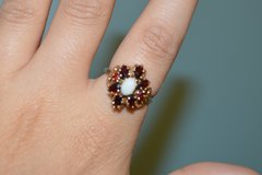 Vintage Garnet and Opal, 10K Yellow Gold Cluster Ring in Fort Benning, Georgia
