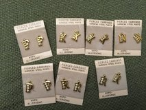 F - K - N - P - R Initials Pierced Earrings in Oswego, Illinois
