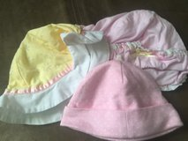 Baby girl sun hats 3 of them in Camp Lejeune, North Carolina