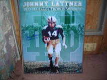 1953 Greenbay Packer Poster Johnny Lattner (Autographed) in Alamogordo, New Mexico