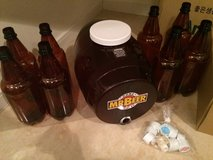 New home brewery keg and bottles in Okinawa, Japan