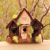 Handcrafted Birdhouse, Made from Recycled wood, 3 unit compound, 4Deboids in 29 Palms, California