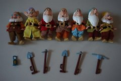Disney Store Snow White Seven Dwarfs Musical Set Limited Edition With Doc That Whistles in Plainfield, Illinois