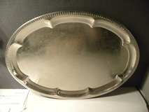 Silver Tone Serving Platter (Not Sterling) in Plainfield, Illinois