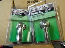 Brushed nickel universal shower/sink knobs in Travis AFB, California