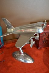 Metal Aluminum Pewter Airplane Plane statue in Aurora, Illinois