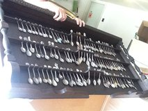 Spoon Collection within Wooden Shelf in Orland Park, Illinois