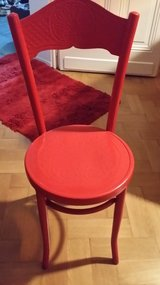 little red chair in Ramstein, Germany