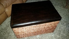 Pier 1 Leather Wicker Chest in Fort Campbell, Kentucky