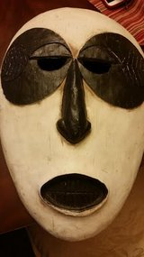 Closed Mouth Wood Mask Wall Hanging in Clarksville, Tennessee