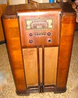 REDUCED Antique Corando Floor Console Wooden Cabinet TUBE Radio Vintage WORKING in Okinawa, Japan