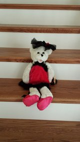 Stuffed Bear with Red and Black Dress, Chantill Lane in Kingwood, Texas