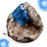 NEW - Cavansite Crystal Ring - 925 Sterling Silver - Size 9 in Alamogordo, New Mexico