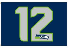 SEAHAWKS 3'x5' 12th Man Flag Banner *** Different Designs  (NEW) *** $15 & up in Tacoma, Washington