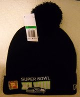 *** SEATTLE SEAHAWKS XLVIII (NEW ERA) Knit Beanie Hat w/ Pom (NEW) *** in Tacoma, Washington