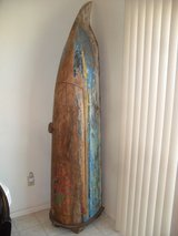 $$$   Indonesian Teak Canoe Cabinet   $$$ in 29 Palms, California