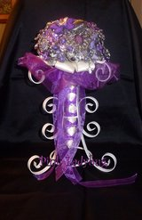 New Handmade Jewelry Bridal Wedding Bouquet - Purples - $150.00 in Spring, Texas