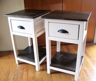 Wood farmhouse bedside bed side end table night stand in Camp Lejeune, North Carolina