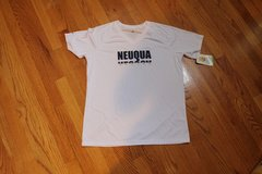 2 Woman's Neuqua Valley Soccer White V-Neck Shirts (2),  Polyester, Medium & Large in Joliet, Illinois