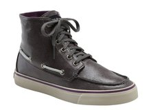 NEW Womens 8 1/2 Sperry Top Sider Graphite Metallic Gray Shimmer High Top Shoes Santa Maria NEW in Kingwood, Texas