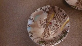 2 Soup Salad Bowls Vintage Dickens WH Grindley Staffordshire Coaching in Travis AFB, California