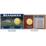 *** Seattle Seahawks Highland Mint 2014 Schedule Gold Coin Card *** in Tacoma, Washington
