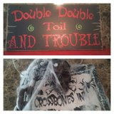 Halloween sign decor in Kingwood, Texas