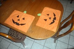 Halloween Pumkin Jack-o-lantern Table Placemats in Fort Bliss, Texas