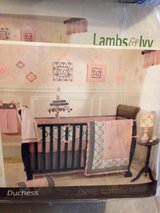 Lambs and ivy duchess crib bedding set in Aurora, Illinois