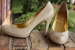 Womens TAHARI Lolly Pumps Heels Shoes Leather Beige Size 8M in Glendale Heights, Illinois