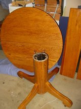 """42"""" Solid Oak Table with One Leaf in Camp Pendleton, California"""