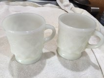 2 white Fire King Kimberly mugs in Fort Campbell, Kentucky
