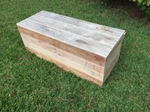 Wood pallet antique hinges chest toy box footlocker in Camp Lejeune, North Carolina