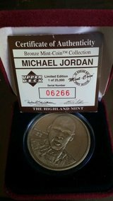 *** MICHAEL JORDAN Bronze Coin from Highland Mint w/case and C.O.A. *** in Tacoma, Washington