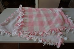 Homemade Pink/White Checkered Blanket in Plainfield, Illinois
