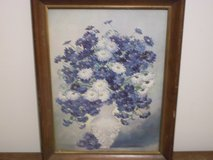 Marion Rice Blue Flower Print in Fort Campbell, Kentucky