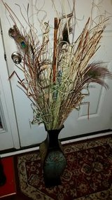 Brown / Teal Metal Floor Vase in Fort Campbell, Kentucky