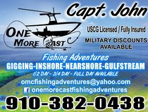 Fishing trips available in Camp Lejeune, North Carolina