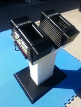 PowerBlock (THE BLOCK) 45 lbs Dumbbell Set with Matching Stand in Travis AFB, California
