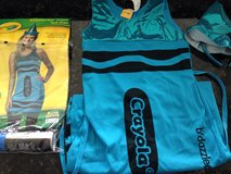 Turquoise crayon dress costume girls 12 but easily fits a women's 2 in Chicago, Illinois