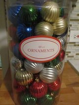 60 Christmas Ornaments Large Container in Orland Park, Illinois