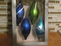 4 Glass Ornaments in Box in Orland Park, Illinois