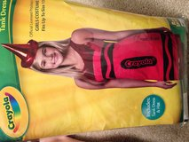 Red crayon costume girls 12 but fits women's 2 in Yorkville, Illinois
