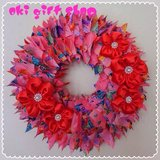 Great Gift! Okinawan style Kimono wreath in Okinawa, Japan