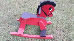 Red Wooden Rocking Horse in Clarksville, Tennessee