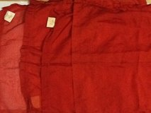 (4) Crate & Barrel Red Sheer Placemats in Ramstein, Germany