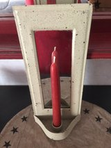 Rustic Mirror w/Taper Candle in Yorkville, Illinois