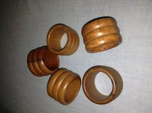 5 Wooden Napkin Rings in Chicago, Illinois