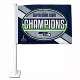 "*** SEATTLE SEAHAWKS ""Super Bowl XLVIII Champions"" Car Flag *** NEW in Tacoma, Washington"
