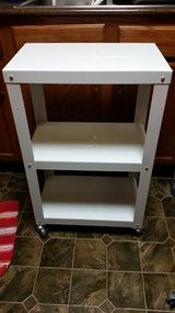 New / White Metal Rolling Shelf in Clarksville, Tennessee